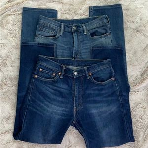 """Lot of two Levi""""s Mens 513 jeans 32x27"""